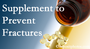 Layden Chiropractic suggests nutritional supplementation with vitamin D and calcium to prevent osteoporotic fractures.