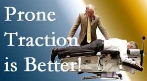 Plainville spinal traction applied lying face down – prone – is best according to the latest research. Visit Layden Chiropractic.