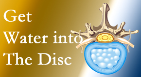Layden Chiropractic uses spinal manipulation and exercise to boost the diffusion of water into the disc which helps the health of the disc.