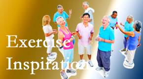 Layden Chiropractic hopes to inspire exercise for back pain relief by listening carefully and encouraging patients to exercise with others.