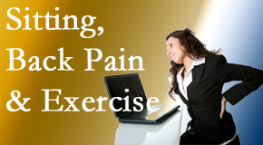 Layden Chiropractic urges less sitting and more exercising to combat back pain and other pain issues.