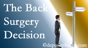 Plainville back surgery for a disc herniation is an option to be carefully studied before a decision is made to proceed.