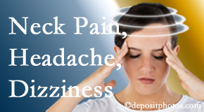 Layden Chiropractic helps relieve neck pain and dizziness and related neck muscle issues.