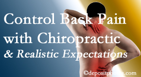 Layden Chiropractic helps patients set realistic goals and find some control of their back pain and neck pain so it doesn't necessarily control them.