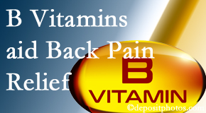 Layden Chiropractic may include B vitamins in the Plainville chiropractic treatment plan of back pain sufferers.