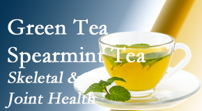 Layden Chiropractic shares the benefits of green tea on skeletal health, a bonus for our Plainville chiropractic patients.