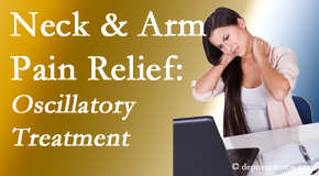 Layden Chiropractic relieves neck pain and related arm pain by using gentle motion-based manipulation.