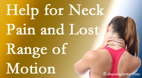 Layden Chiropractic helps neck pain patients with limited spinal range of motion find relief of pain and restored motion.