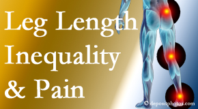 Layden Chiropractic tests for leg length inequality as it is related to back, hip and knee pain issues.
