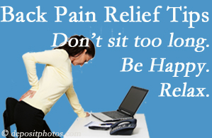 Layden Chiropractic reminds you to not sit too long to keep back pain at bay!