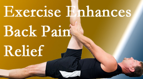 Exercise Enhances Chiropractic Back Pain Relief Plan