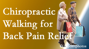 Layden Chiropractic encourages walking for back pain relief in combination with chiropractic treatment to maximize distance walked.
