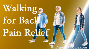 Layden Chiropractic often recommends walking for Plainville back pain sufferers.