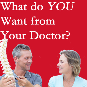 Plainville chiropractic at Layden Chiropractic includes examination, diagnosis, treatment, and listening!