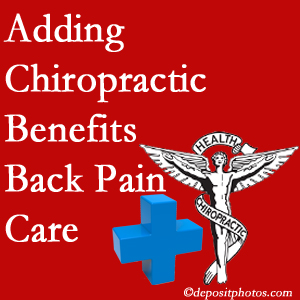 Added Plainville chiropractic to back pain care plans helps back pain sufferers.