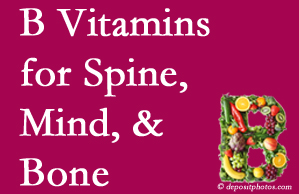 Plainville bone, spine and mind benefit from B vitamin intake and exercise.