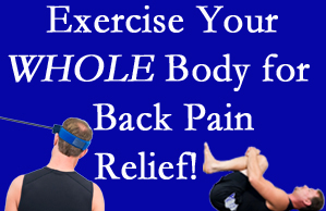 Plainville chiropractic care includes exercise to help enhance back pain relief at Layden Chiropractic.
