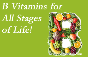 Layden Chiropractic suggests a check of your B vitamin status for overall health throughout life.