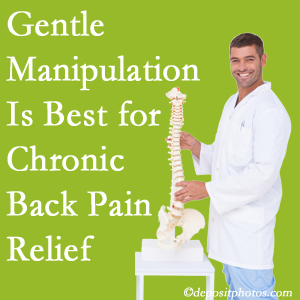 Gentle Plainville chiropractic treatment of chronic low back pain is superior.