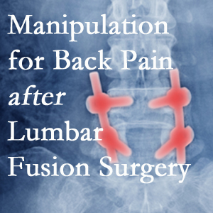 Plainville chiropractic spinal manipulation helps post-surgical continued back pain patients discover relief of their pain despite fusion.