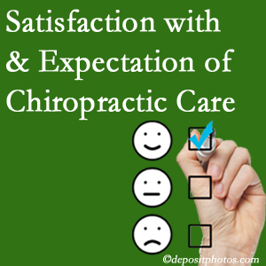 Plainville chiropractic care provides patient satisfaction and meets patient expectations of pain relief.